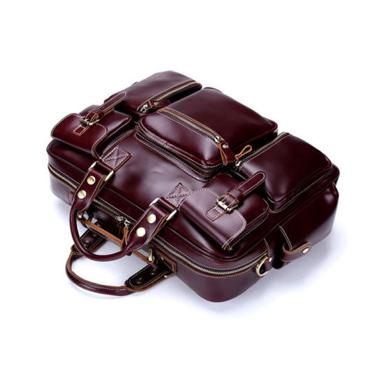 High End Good Quality Leather Weekend Duffle Bag pictures & photos