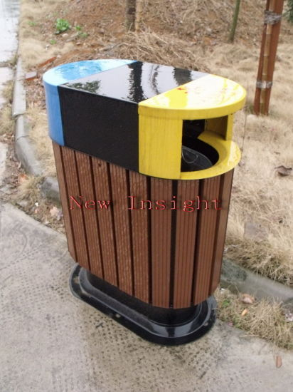 Eco-Friendly Wood Plastic Composite Dustbin with CE, Fsc, SGS, Certificate