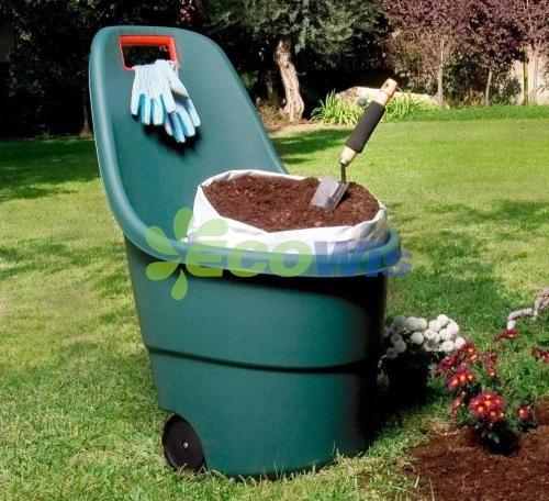 Garden Plastic Bucket with Wheels China Manufacturer