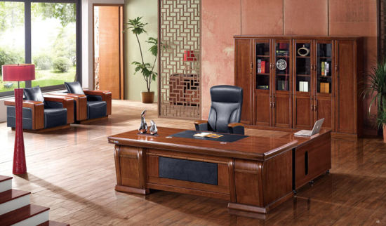 Cherry Wooden Executive Office Desk With Left Return Foh B7h241