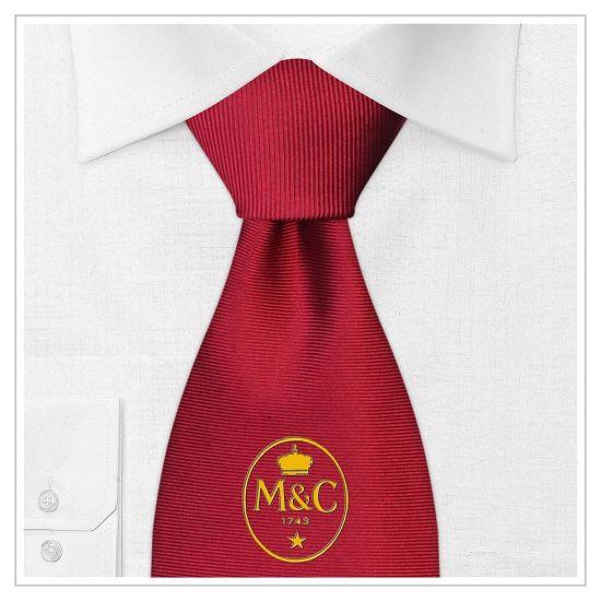 Wine Colour Logo Design Fashion Woven Silk Neckwear