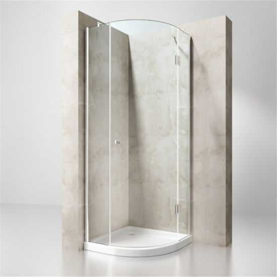 Modern Round 8mm Tempered Shower Glass Enclosure for Hotel