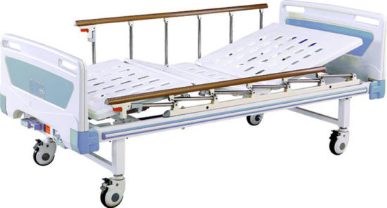 Hospital Movable Two Function Full-Fowler Bed with ABS Headboards pictures & photos