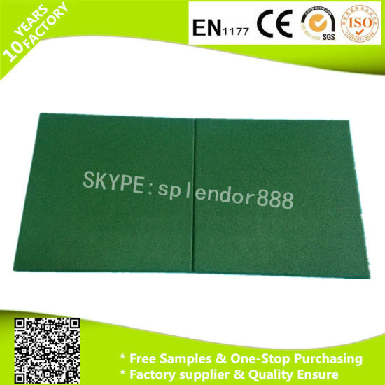 Outdoor Rubber Flooring Paver for Children Playground Using