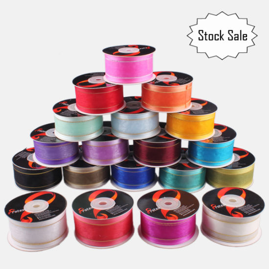 Customized Stock Sale Organza Ribbon