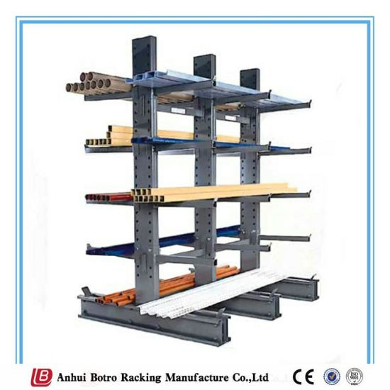 Powder Coating China Supplier Warehouse Storage Steel Cantilever Custom Powder Coating Racks Suppliers