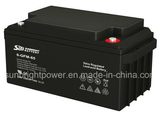 12V65ah Maintenance Free Deep Cycle Solar Power SLA Battery