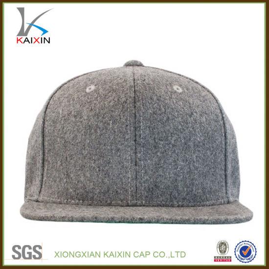China Custom Made Plain Blank Wool Snapback Hats Wholesale - China ... dd7de2fc331d
