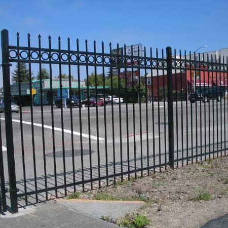 Rail 3 Rail Commercial Iron Fence Panel