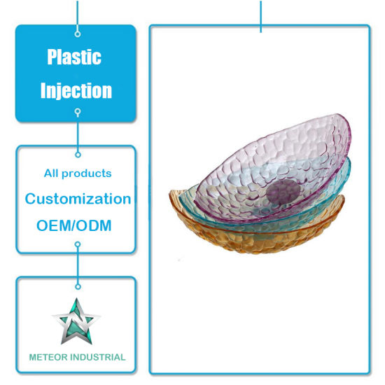 Customized Plastic Injection Moulding Products Fruit Vegetable Plastic Bowl