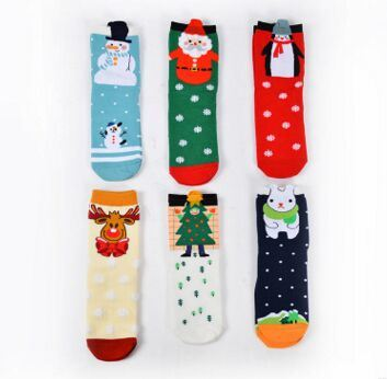 Custom Christmas Knee High Cotton Sock pictures & photos