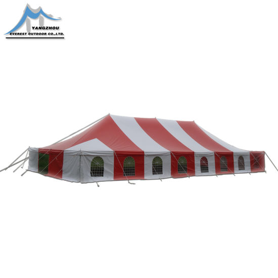 a Large Tent with a Seating Capacity of 500 People for Outdoor Parties Pole Tent
