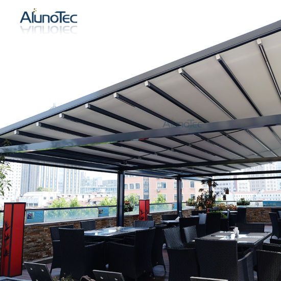 Motorized Outdoor PVC Retractable Roof Awning