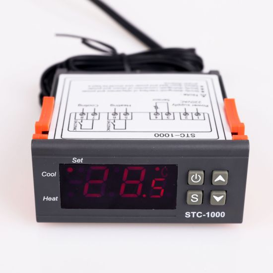 Stc-1000 Digital Temperature Control Meter with 3-LED Display