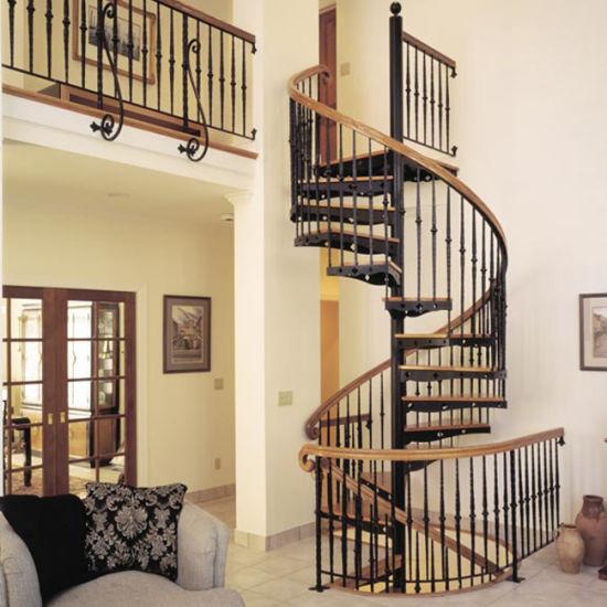 Exceptionnel Interior Stair Design Custom Made Wooden Spiral Staircase