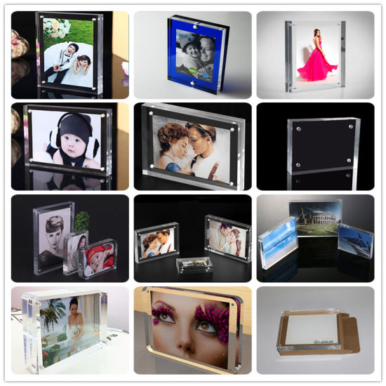 China 4 X 6, 5 X 7 Clear Free Standing Desktop Double Sided Magnetic ...