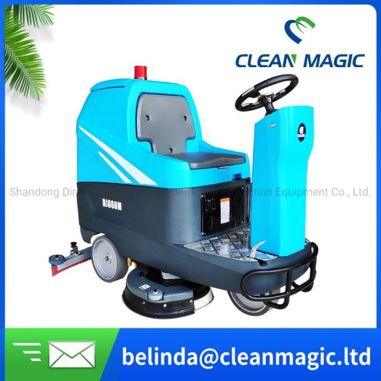 Clean Magic DJ860m Electric Ride on Road Scrubber Dryer Street Cleaning Machine Floor Washing Equipment Industrial Price for Sterilizing/Disinfecting