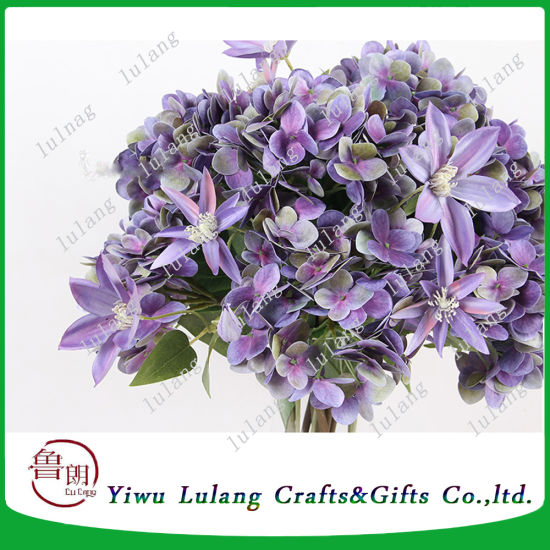 China silk hydrangea flowers artificial flower artificial plant home silk hydrangea flowers artificial flower artificial plant home decoration wedding bouquet mightylinksfo Image collections