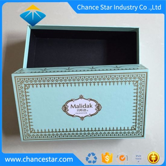 Custom Printed Paper Cardboard Food Box for Macaroon Packing