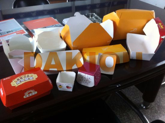 High Speed Hamburger Packaging Box Making Machine pictures & photos