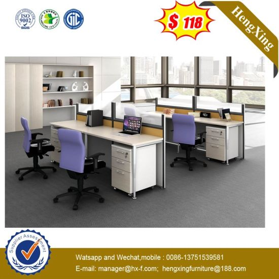 2 Seats Melamine Laminated Office Cubicles Modern Wooden Workstation pictures & photos
