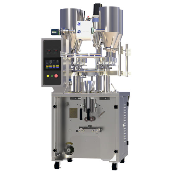 Mzh-65bds Intermittent Vertical Multi Material Hybrid Packing Machine (aluminum plated plastic film packaging) pictures & photos