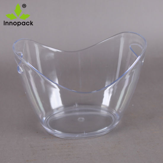 8liter Transparent Plastic Beer Ice Bucket Manufacture with High Quality