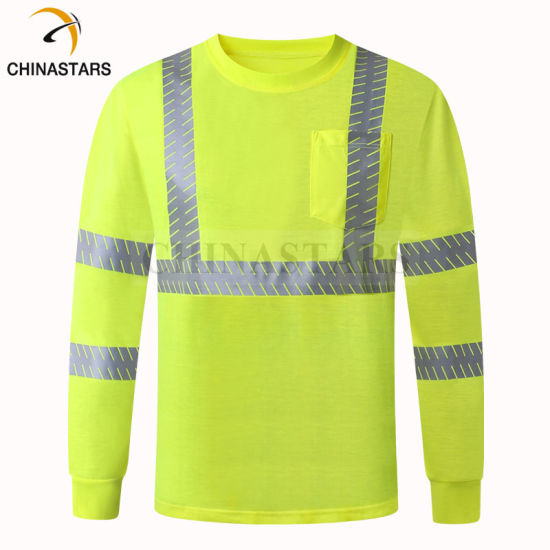 Wholesale High Quality Reflective Safety Shirts Safety Work Sports Man T Shirts with Segmented Reflective Tape