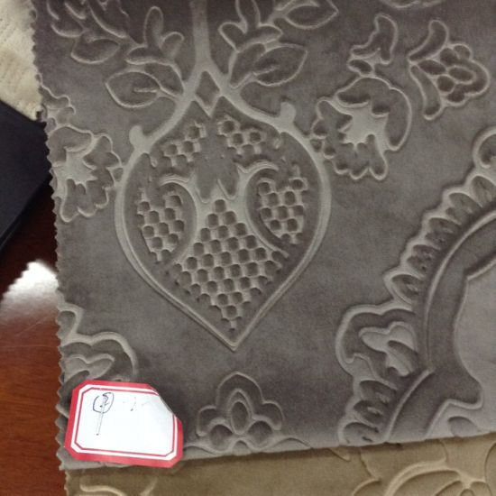 Venice Emboss Holland Emboss Italy Emboss Sofa Fabric Printing Emboss Look Special Velvet Sofa Curtain Fabric pictures & photos