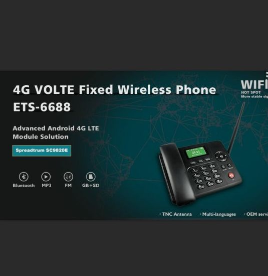 GSM Cordless Phone SIM Card WiFi 4G Desk Phone Volte