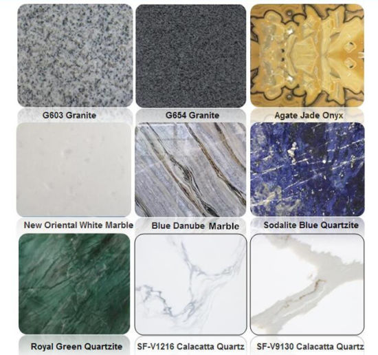 Natural Stone China Black Pink Yellow Brown Green Beige Red White