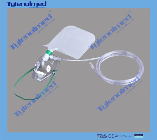 Disposable Non Rebreather Oxygen Mask with 800ml PE Bag