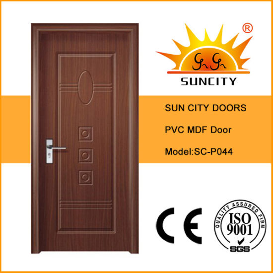 Newly Designed Flush PVC Folding Door Operators Wooden with Glass