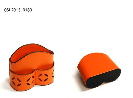 Faux Leather Stationary Box Key Cell Phone Desktop Organizer Set