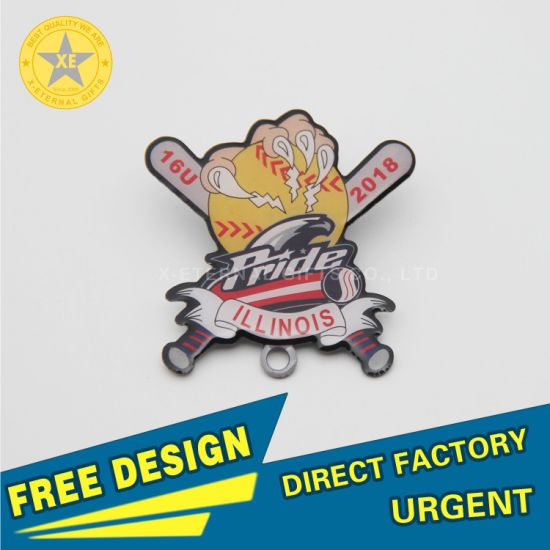 X-Eternal Gifts Free Design Souvenirs Stainless Steel Full Color Printing School Party Smile Pin Badge Army Promotion