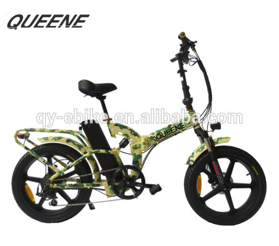 Queene/Best Quality Stealth Bomber Electric Bike, Fat Tire Electric Bicycle Folding Ebike 750W pictures & photos