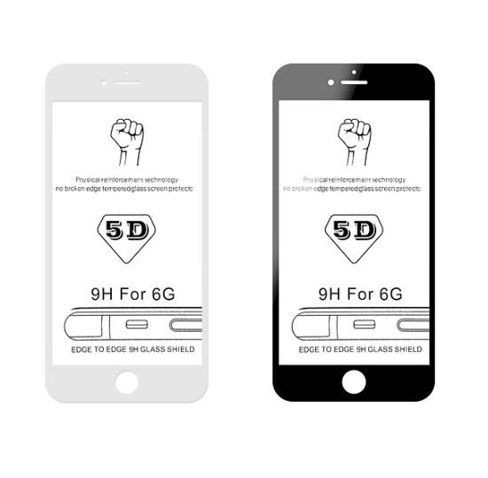 5D 0.3mm Slim Clear Phone Tempered Glass Film Screen Protector
