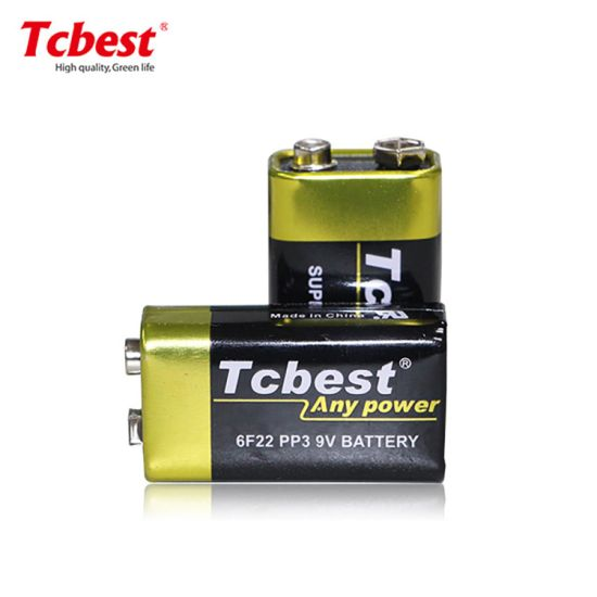 Tcbest Super Heavy Duty OEM Accept High Capacity 9V Super Heavy Duty 6f22 Size 240mins Battery Non-Rechargeable Battery