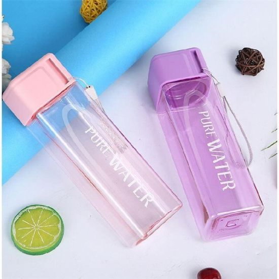 High Quality Eco Friendly Sports 500ml Square Plastic Water Bottle for Protein Shaker