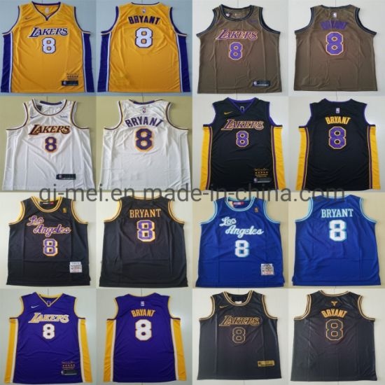 Lakers 8 K-Obe Bryant Cooperstown Hard Wood Classic Basketball Jerseys