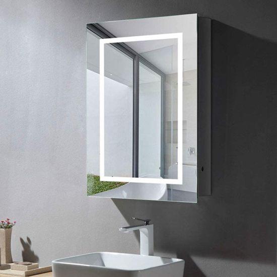 Wall Mount Bathroom Vanity Smart Large, Bathroom Mirror Storage