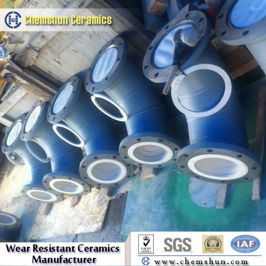 Aluminum Oxide Ceramic Lined Pipe Fittings with Chemical Resistance & China Aluminum Oxide Ceramic Lined Pipe Fittings with Chemical ...