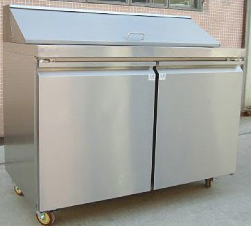 China Air Cooling Commercial Workbench FridgeSalad Bar Prep Table - Commercial prep table refrigerator