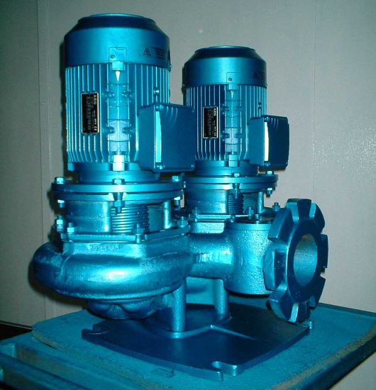 Inline Pump, Vertical Pump, Direct Coupling Pump, Pipeline Pump, Vertical Single Stage Pump, Water Pump, Centrifugal Pump pictures & photos