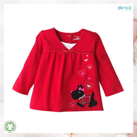 Red Baby Garment Baby Clothes Girl T-Shirt