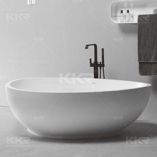 Italian Design Bathroom Accessories Solid Surface Free Standing Bathtub