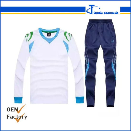 Wholesale Stock Plain Cheap Long Sleeve Autumn Sport Shirt and Sport Trousers