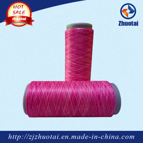 Polyester Space Dyed Yarn China Fancy Yarn for Fashion Clothes pictures & photos