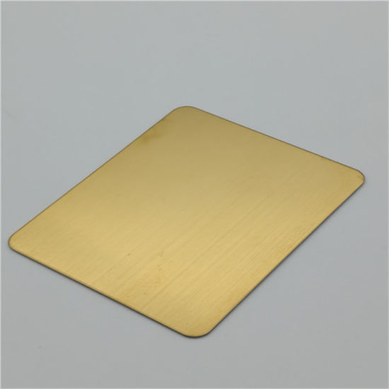 China Stainless Steel Sheet SUS304 Gold Color Mirror Finish Decoration Steel Sheet 4X8 Size pictures & photos