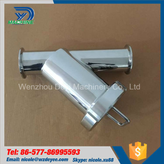 SS316L Hygienic 50.8mm Y Type Filter Clamped Ends